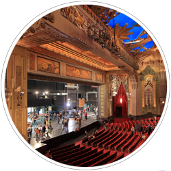 A collection of photographs of historic theatres and movie palaces I've visited or worked-in.